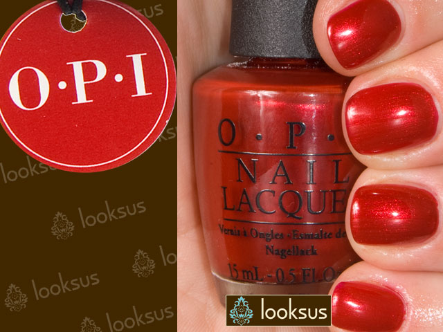 OPI NLG14 Danke Shiny Red